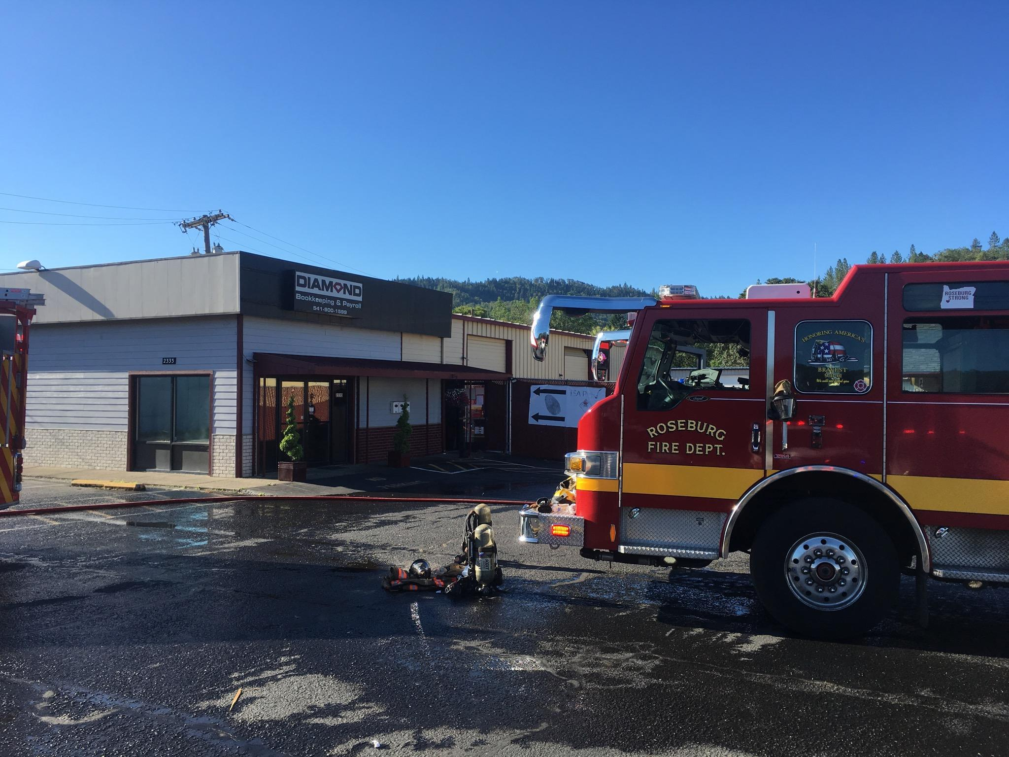Commercial Structure Fire - 2333 NE Diamond Lake Blvd - 6-18-19 (Photo) featured image